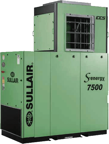 Sullair 7500B S0-energy rotary screw air compressor with EES heat recovery