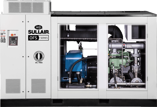 Sullair OFS180 Oil Free rotary screw air compressor