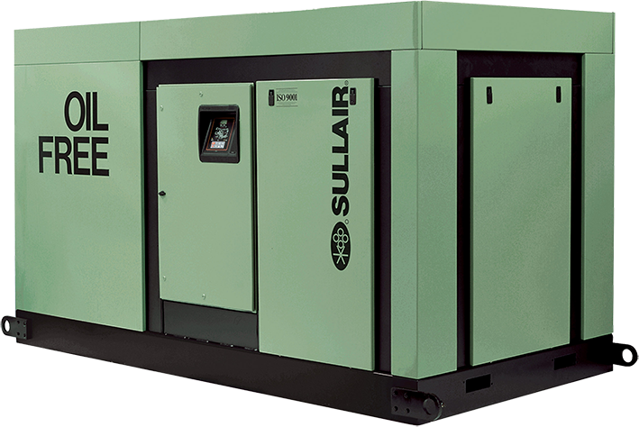 Sullair DS13 Oil Free rotary screw air compressor